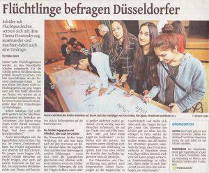 WZ Artikel Flüchtlinge befragen Düsseldorf 18.11.2015